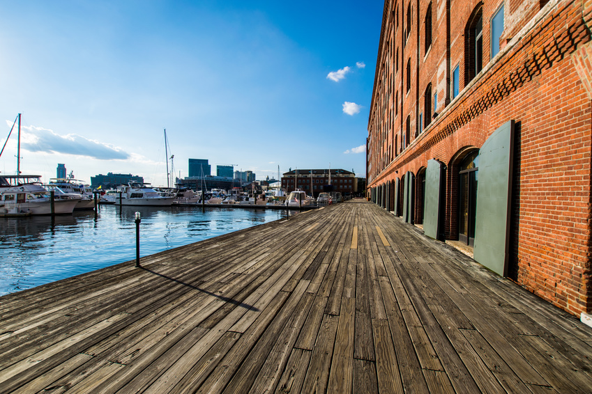 Henderons Wharf in Fells Point in Batimore, Maryland